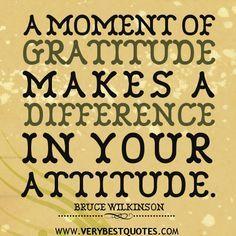 thankfulness quotes | gratitude quotes, attitude quotes, A moment of gratitude makes a ...