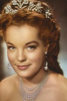 Romy as Sissi. I had this poster in my room for a very long time...