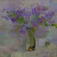 Lilac flowers painting still life oil painting modern by Pysar
