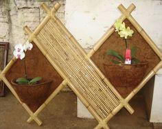 Resultado de imagem para artesanato com bambu para plantas