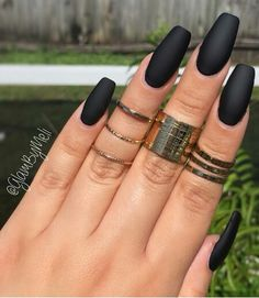 Fall nails... matte black using Laura G jet set