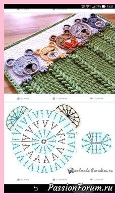s media cache originals 15 cute crochet elephant applique, it is very easy to learn how to create this cutiesuper inšpirácia na hačkovanú deku pre miminkoChild Knitting Patterns Baby Knitting Patterns Supply : byAdorable teddy bear graph Crochet Teddy, Crochet Bear, Cute Crochet, Crochet Crafts, Crochet Projects, Crochet Animals, Diy Crafts, Crochet Toys, Crochet Blanket Patterns