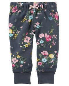 Baby Girl Brushed Fleece Pull-On Pants from Carters.com. Shop clothing & accessories from a trusted name in kids, toddlers, and baby clothes. #babyclothesstylish #toddlerfleecegirl