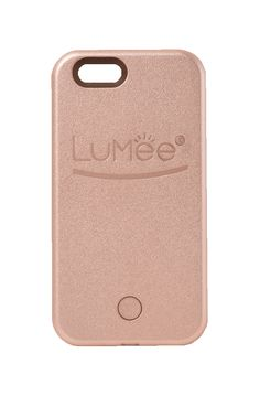 iPhone 6 LuMee case - the smartphone case that lights up your face! Great for #selfies, FaceTime, Periscope, Skype, and more!