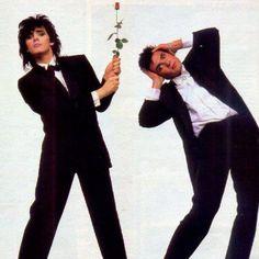 Nick Rhodes & Simon Le Bon in Arcadia - haha!
