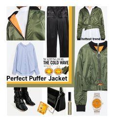 """Perfect Puffer Jacket"" by kapua-blume ❤ liked on Polyvore featuring SKINN, Madyha Farooqui, Bobbi Brown Cosmetics, Kiki mcdonough, Max Factor, mango, zara, polyvoreeditorial and puffers"