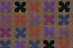 Quatrefoil by Alexander Girard, 1954   005 Violet. Maharam.