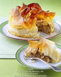 أشهر وصفات الطبخ المغربي بالصور : مطبخ ام ايمن  Moroccan Chicken Pastilla