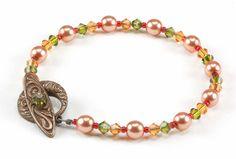 Jewelry Making Idea: Fall Foliage Bracelet