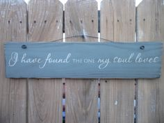 wooden sign quote sign i have found the one my by CiderHouseMill, $18.00