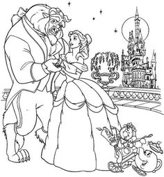Free Beauty And The Beast Coloring Pages Http Procoloring