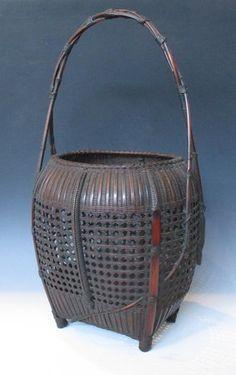 japanese bamboo baskets | Japanese Bamboo Basket By Shochikusai.