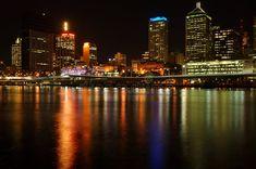 Brisbane City, Seattle Skyline, New York Skyline, Images Of Colours, Sunshine State, After Dark, Capital City, East Coast