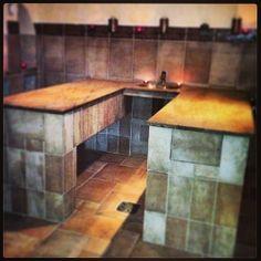 granit scrubbing and massage table / #Hammam Paris