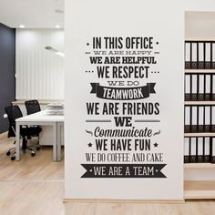 Office Decor Typography In This Office by homeartstickers on Etsy