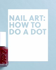 Learn how to do a dot manicure at home with this simple trick.
