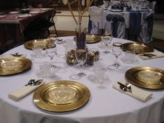 First formal table setting, emotional support provided by sis-in-law Sara and manpower by Chris