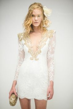 Lace dress by Brazilian designer Patricia Bonaldi