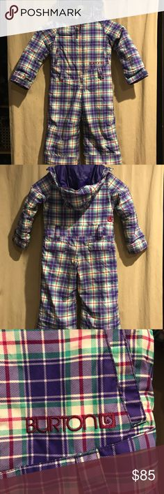 Girls Burton Dryride Snowsuit EUC no rips, holes, stain or wearing. This is very sought after gear for really active kids. Warm, waterproof, very convenient. Only issue is the two first snaps along the good are missing, thus didn't affect use at all. Burton Jackets & Coats