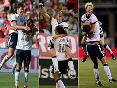 Love the jumps! And finally someone falls from Pinoe jumping on them, down goes Leroux!