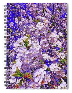 "This 6"" x 8"" spiral notebook features the artwork ""Spring Blossoms"" by Jasna Dragun on the cover and includes 120 lined pages for your notes and greatest thoughts."