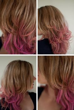 Wash-out ombre hair!