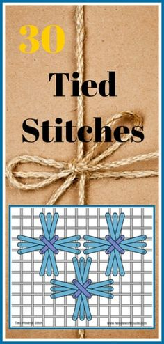 30 Needlepoint, Canvas Tied Stitch Variations