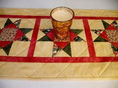 Christmas Stars Quilted Table Runner Table by ForgetMeNotQuilteds, $36.00