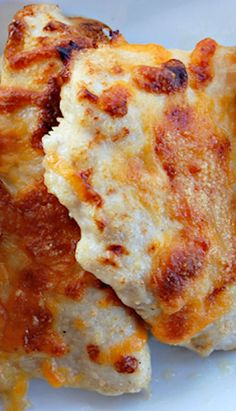 Cheesy Ranch Chicken - Easy and quick.  Use less Ranch to lower the sodium.