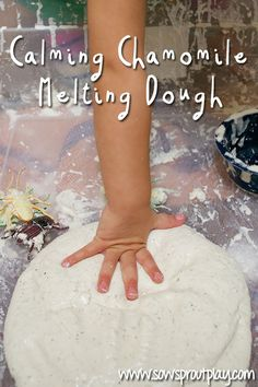 Calming Chamomile Melting Dough is great for sick or stressed kids.. Heck, it's even great for adults!