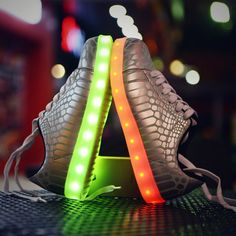 2017 women light up led luminous shoes recharge for men adults neon basket color glowing casual fashion with new simulation sole