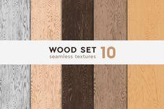 Wood textures set 10 by Pykhtik on @creativemarket