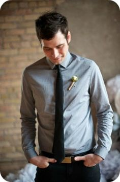 casual and chic groom - Emily Steffen Photography