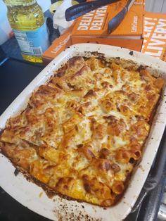 Pasta Bake Sauce, Pizza Pasta Bake, Baked Pasta Recipes, Baking Recipes, Easy Recipes, Vegan Recipes, Dinner Recipes, Vegan Main Dishes, Italian Pasta