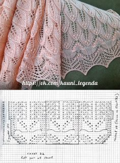 chusty estonskie, crochet shawls and scarves patterns, wzory szali i chust, darm. Lace Knitting Stitches, Lace Knitting Patterns, Shawl Patterns, Lace Patterns, Knitting Designs, Tricot D'art, Diy Crafts Knitting, Crochet Shawl, Free Crochet