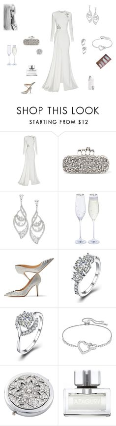 """Crystal Ships"" by browncoat4ever ❤ liked on Polyvore featuring Alex Perry, Alexander McQueen, Eliot Danori, Jimmy Choo, Swarovski, Frontgate, Azagury, Christian Dior and GE"