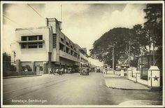 Sudut jln Gemblongan th 1920 an dalam kartu pos
