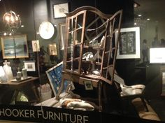 Front window display at #Hooker_Furniture #hpmkt #Fall_2013 / Lisa Sherry Interieurs