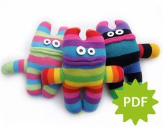 Make your own Common Sock Monster PDF instructions by MakeMeRoar
