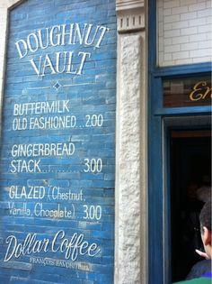 Doughnut Vault - Front Sign