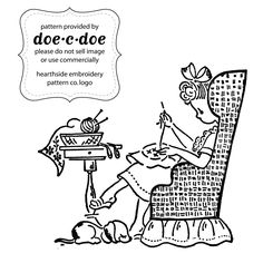 doe-c-doe:  free embroidery