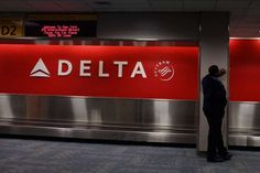 A Delta Air Lines baggage claim area at Kennedy International Airport.