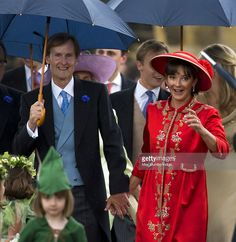 Ralph Percy, Duke of Northumberland and Jane Percy, Duchess of Northumberland attend the wedding of their daughter Lady Melissa Percy and Thomas Van Straubenzee at St Michael's Church on June 22, 2013 in Alnwick, England.