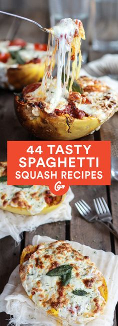 Bonus: You can eat the noodle-like contents straight from the squash itself! #comfortfood #squash http://greatist.com/eat/spaghetti-squash-recipes