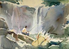 Landscape Painting by John Fernandes Watercolour Painting, Black Art, Landscape Paintings, Drawings, Artist, Painters, Pictures, Image, Water Colors