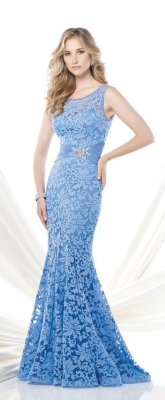 Glamorous Lace Mermaid Scoop Neckline Full-length Mother of the Bride Dress