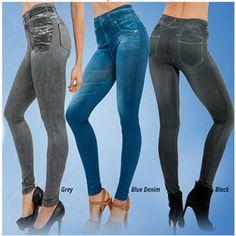 Jeggings Jeans Leggings Real Pocket Women Leggings Slim Jeggins Sport Legging Pants Leggins Slim Jeggings Push Up Jeans - FashionCitrus Jeggings, Denim Leggings, Leggings Mode, Women's Fashion Leggings, Jeans Denim, Girls Leggings, Leggings Are Not Pants, Skinny Jeans, Mermaid Leggings
