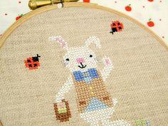 Mr. Easter Bunny Free Cross Stitch Pattern