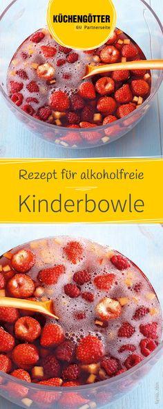 So kommen auch die Kleinen auf eurer Party nicht zu kurz - Probiert unser Rezept für schnelle alkoholfreie Kinderbowle.