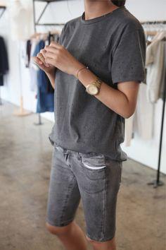 denim shorts  #style #fashion #streetstyle